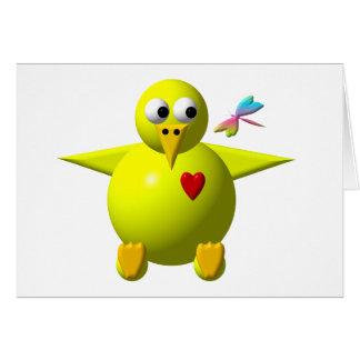Polluelo lindo tarjetas