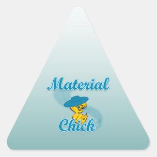 Polluelo material #3 calcomanía trianguloada