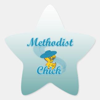 Polluelo metodista 3 pegatina forma de estrella