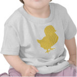 Polluelo moderno de pascua camisetas