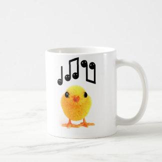 polluelo musical lindo de 3d Pascua Tazas De Café