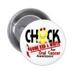 Polluelo oral del cáncer ido rojo y blanco 2 pins