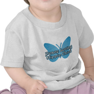 Polluelo pacifista del Hippie Camisetas