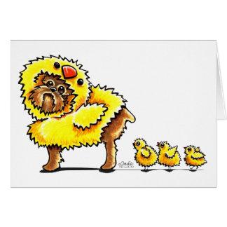 Polluelo Pascua de Bruselas Griffon Felicitación