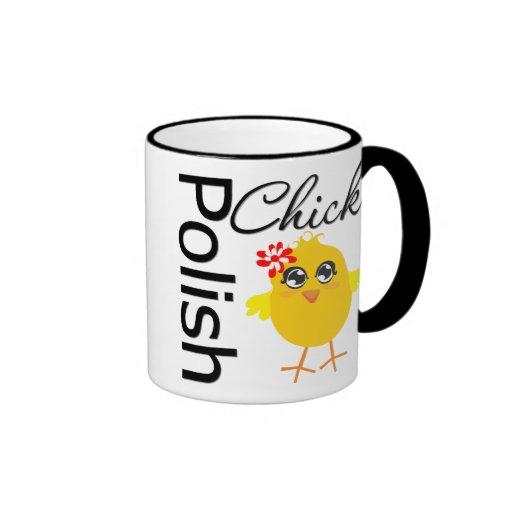 Polluelo polaco taza a dos colores