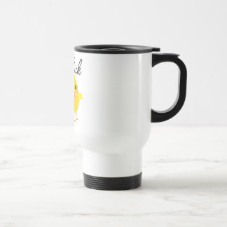 Polluelo que acampa taza de café
