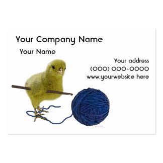 Polluelo que Crochets la tarjeta de visita
