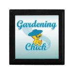 Polluelo que cultiva un huerto #3 caja de joyas