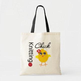Polluelo que hace punto 2 bolsa tela barata