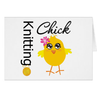 Polluelo que hace punto tarjetas