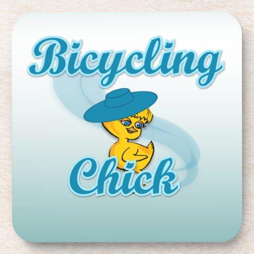 Polluelo que monta en bicicleta #3 posavasos de bebida