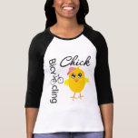 Polluelo que monta en bicicleta camiseta