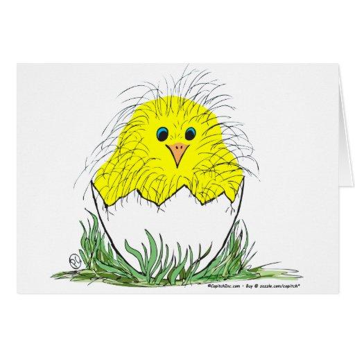 Polluelo recién nacido tarjeta de felicitación