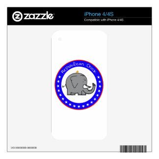 polluelo republicano iPhone 4S skin