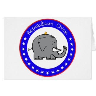polluelo republicano tarjeta de felicitación