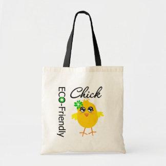 Polluelo respetuoso del medio ambiente bolsas de mano