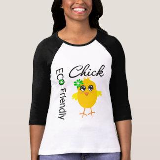 Polluelo respetuoso del medio ambiente camisetas