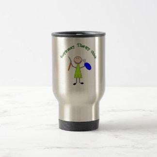 Polluelo respiratorio taza de café