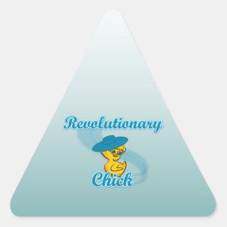 Polluelo revolucionario #3 colcomanias trianguladas personalizadas