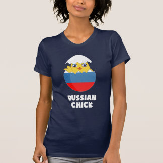 Polluelo ruso, chica de Rusia Remera