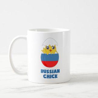 Polluelo ruso, chica de Rusia Taza Clásica