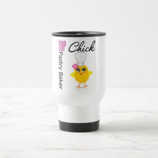 Polluelo superior de los pasteles taza de café