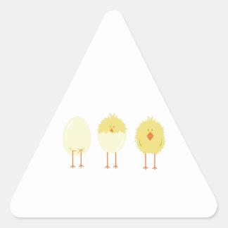 Polluelo tramado pegatina triangular