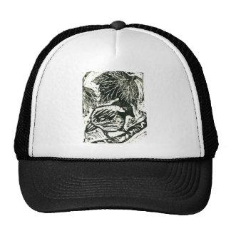Polluelo-uno-Dee [impresión blanco y negro] Gorros Bordados