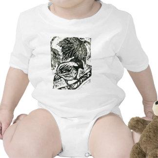 Polluelo-uno-Dee impresión blanco y negro Trajes De Bebé