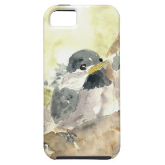 Polluelo-uno-Dees tres nuevo - lápiz de la acuarel iPhone 5 Case-Mate Carcasas