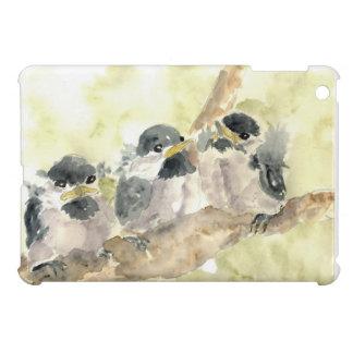 Polluelo-uno-Dees tres nuevo - lápiz de la acuarel iPad Mini Coberturas