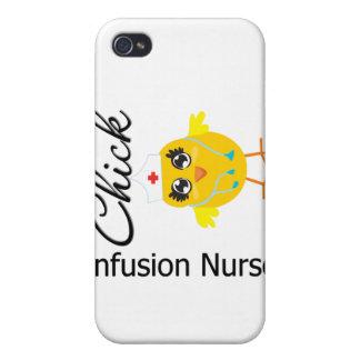 Polluelo v1 de la enfermera de la infusión iPhone 4 coberturas