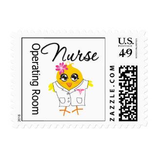Polluelo v2 de la enfermera de la sala de sello postal