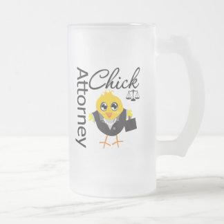 Polluelo v2 del abogado tazas de café