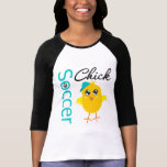 Polluelo v2 del fútbol camiseta