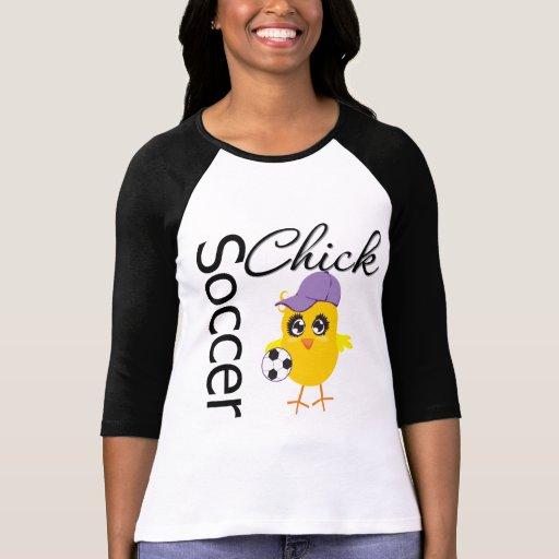 Polluelo v2 del fútbol camisetas