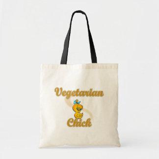 Polluelo vegetariano bolsas de mano