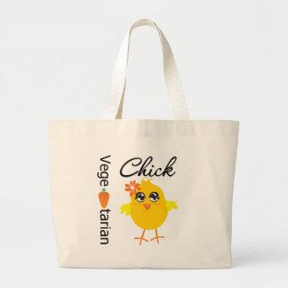 Polluelo vegetariano bolsa de mano