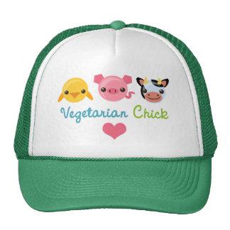 Polluelo vegetariano gorras de camionero