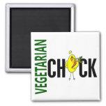 Polluelo vegetariano imán para frigorífico