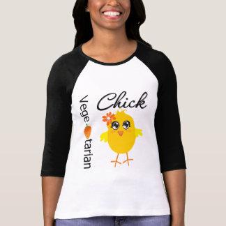 Polluelo vegetariano camisetas