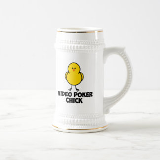 Polluelo video del póker jarra de cerveza