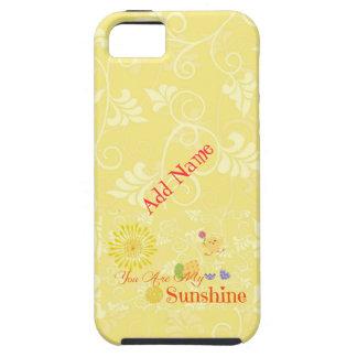 Polluelo y huevos de Pascua amarillos soleados Funda Para iPhone SE/5/5s