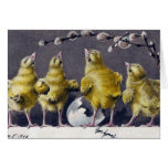 Polluelos adorables de Pascua del vintage Felicitaciones