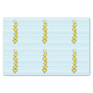 Polluelos altos papel de seda pequeño