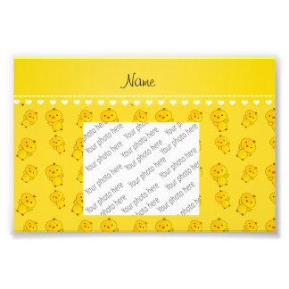 Polluelos amarillos conocidos personalizados cojinete