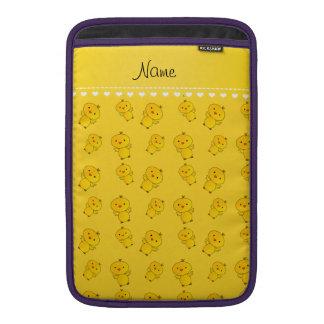 Polluelos amarillos conocidos personalizados funda para macbook air