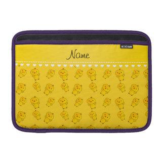 Polluelos amarillos conocidos personalizados fundas para macbook air