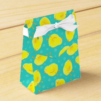 Polluelos amarillos lindos de Pascua Caja Para Regalos