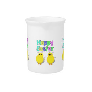 ¡Polluelos amarillos mullidos de Pascua - Pascua Jarrones